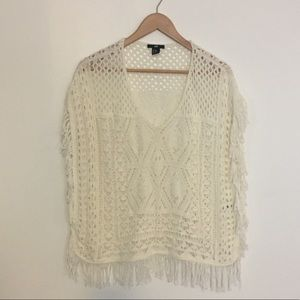 White crochet cover-up or top